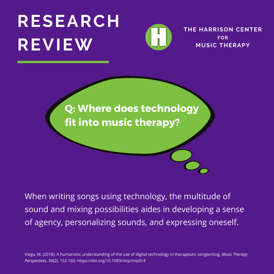 Where does technology fit into music therapy?