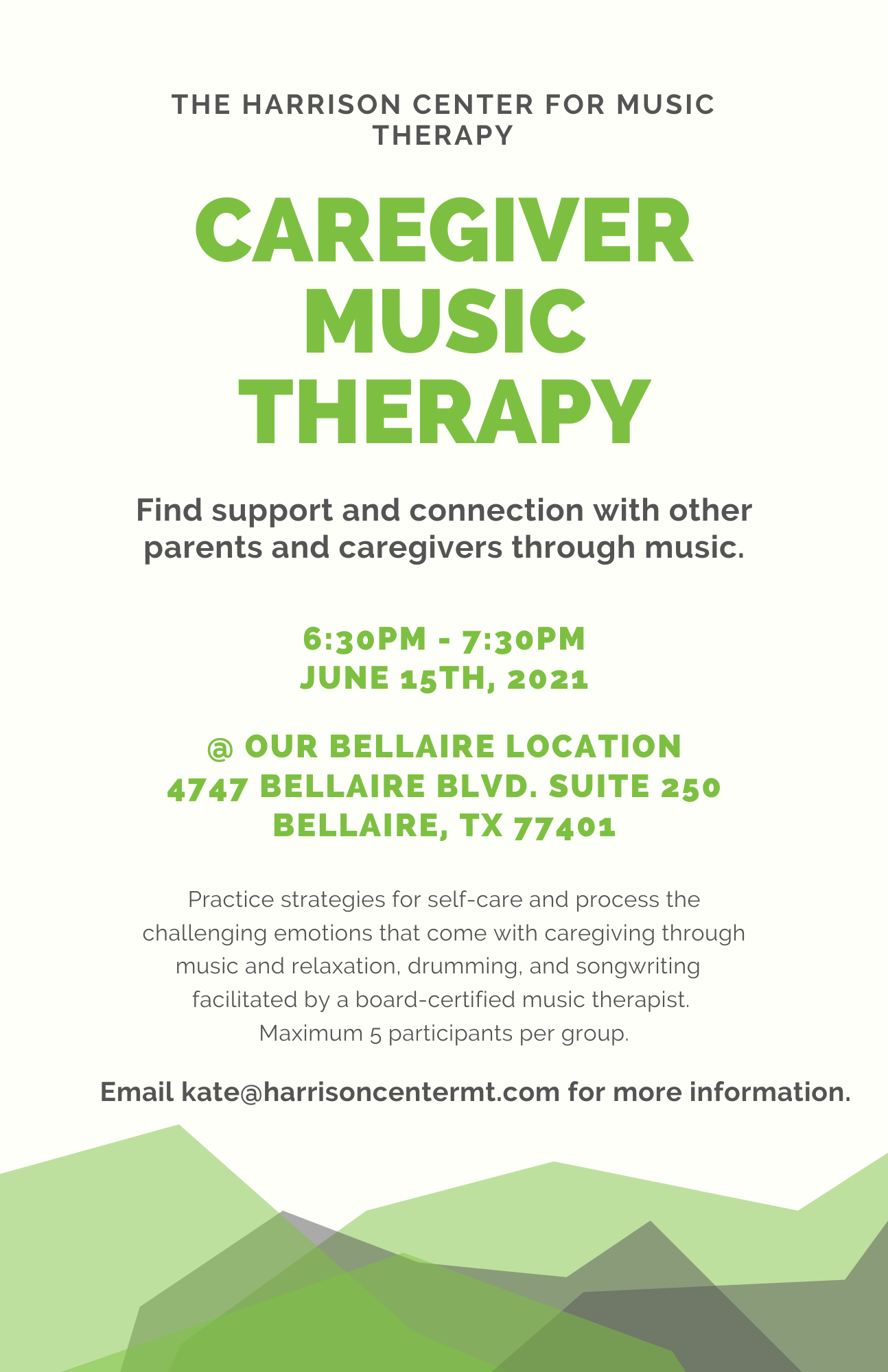 Caregiver music therapy houston